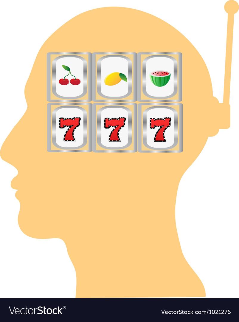 Thinking of slot gambling vector | Price: 1 Credit (USD $1)