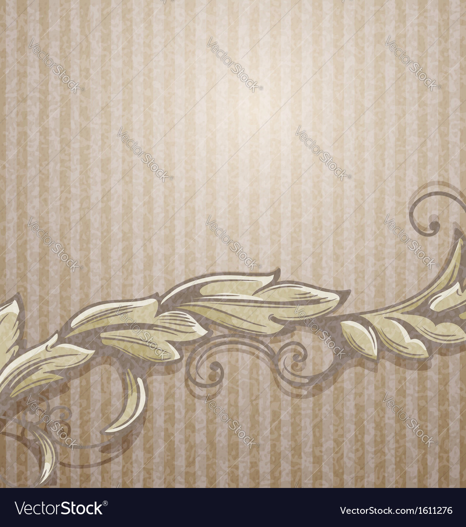 Vintage background with branch vector | Price: 1 Credit (USD $1)
