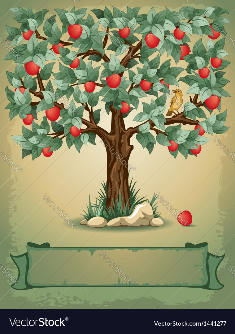 Apple tree vector | Price: 3 Credit (USD $3)
