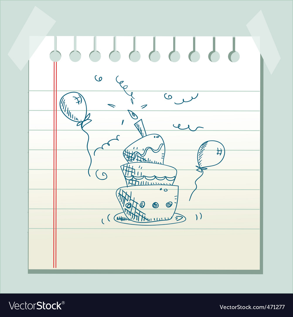 Doodle cake vector | Price: 1 Credit (USD $1)
