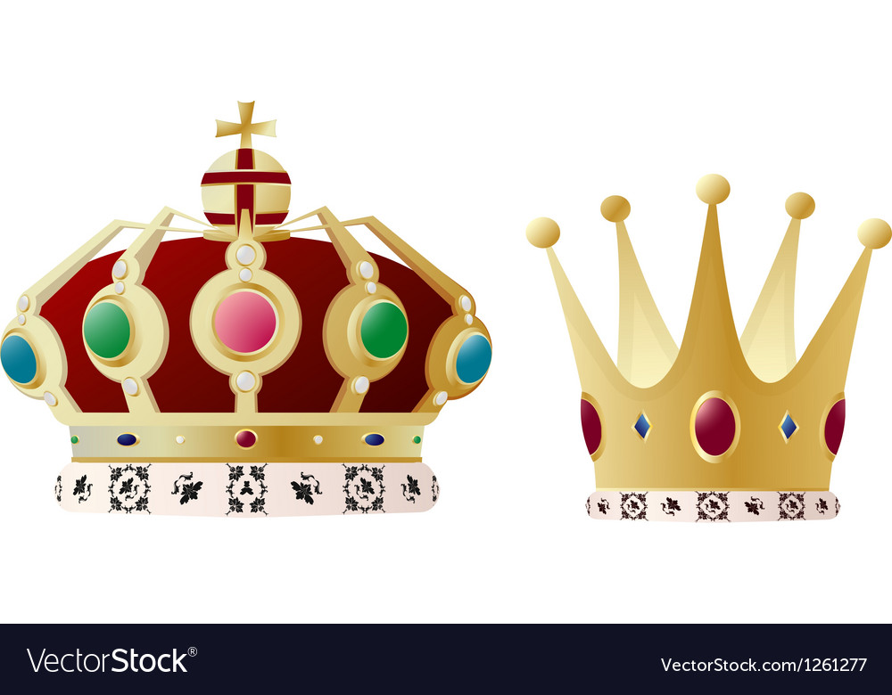 King and queen crown vector | Price: 1 Credit (USD $1)