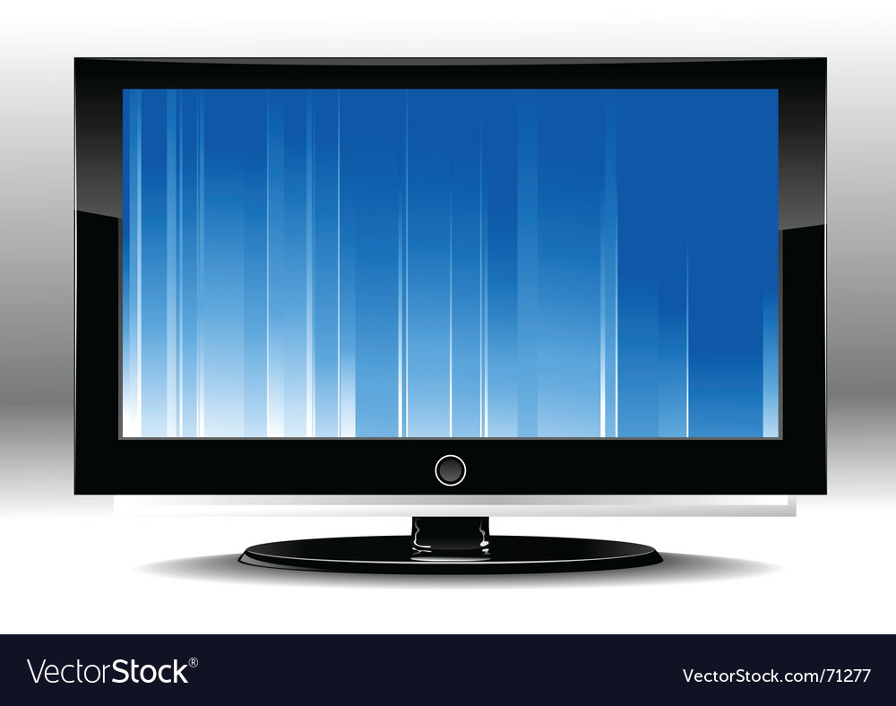 Led tv vector | Price: 1 Credit (USD $1)