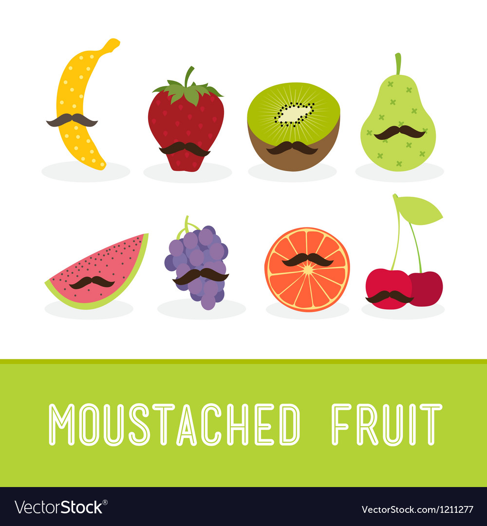 Moustached fruit vector | Price: 1 Credit (USD $1)