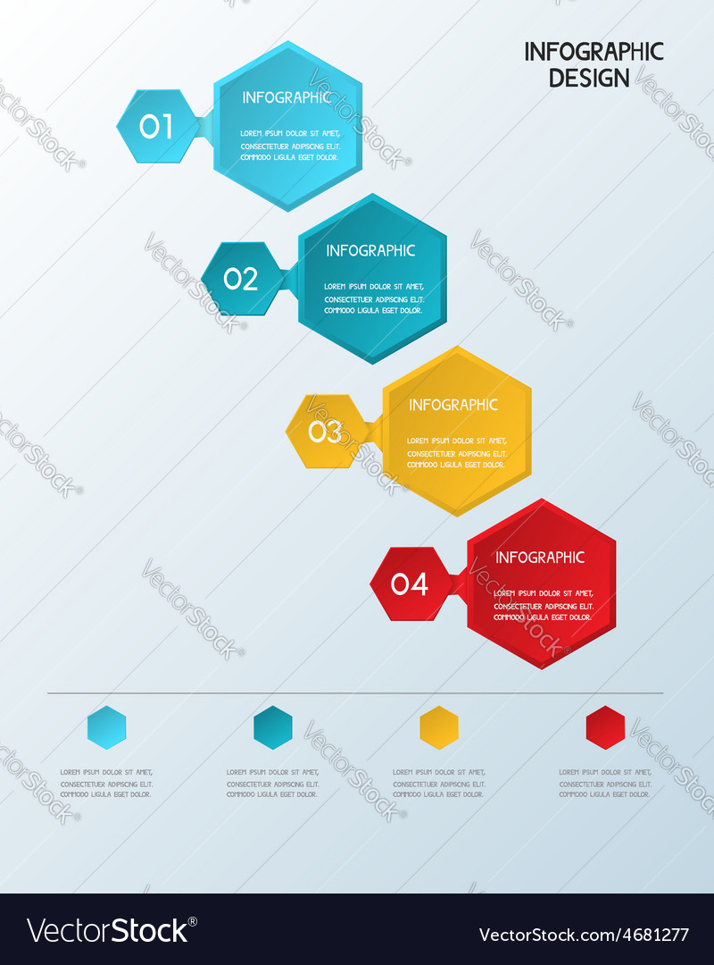 Paper infographic hexagon template vector | Price: 1 Credit (USD $1)