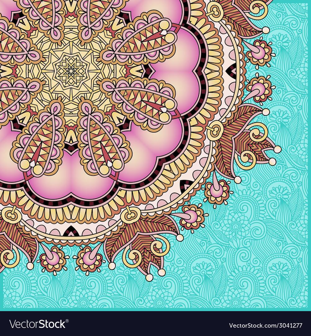 Pattern in ukrainian oriental ethnic style vector | Price: 1 Credit (USD $1)