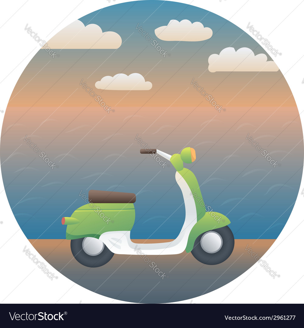 Scooter detailed vector | Price: 1 Credit (USD $1)