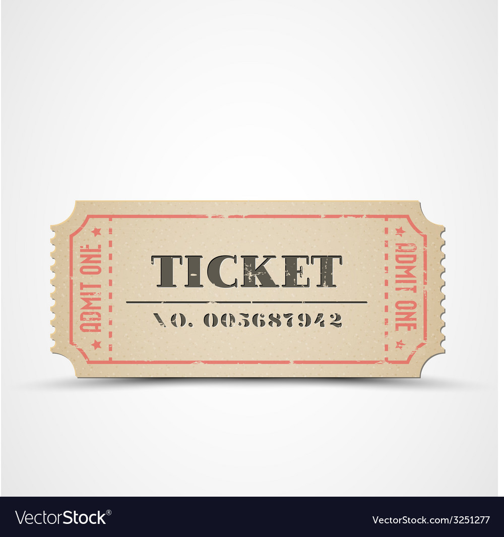 Vintage ticket vector | Price: 1 Credit (USD $1)