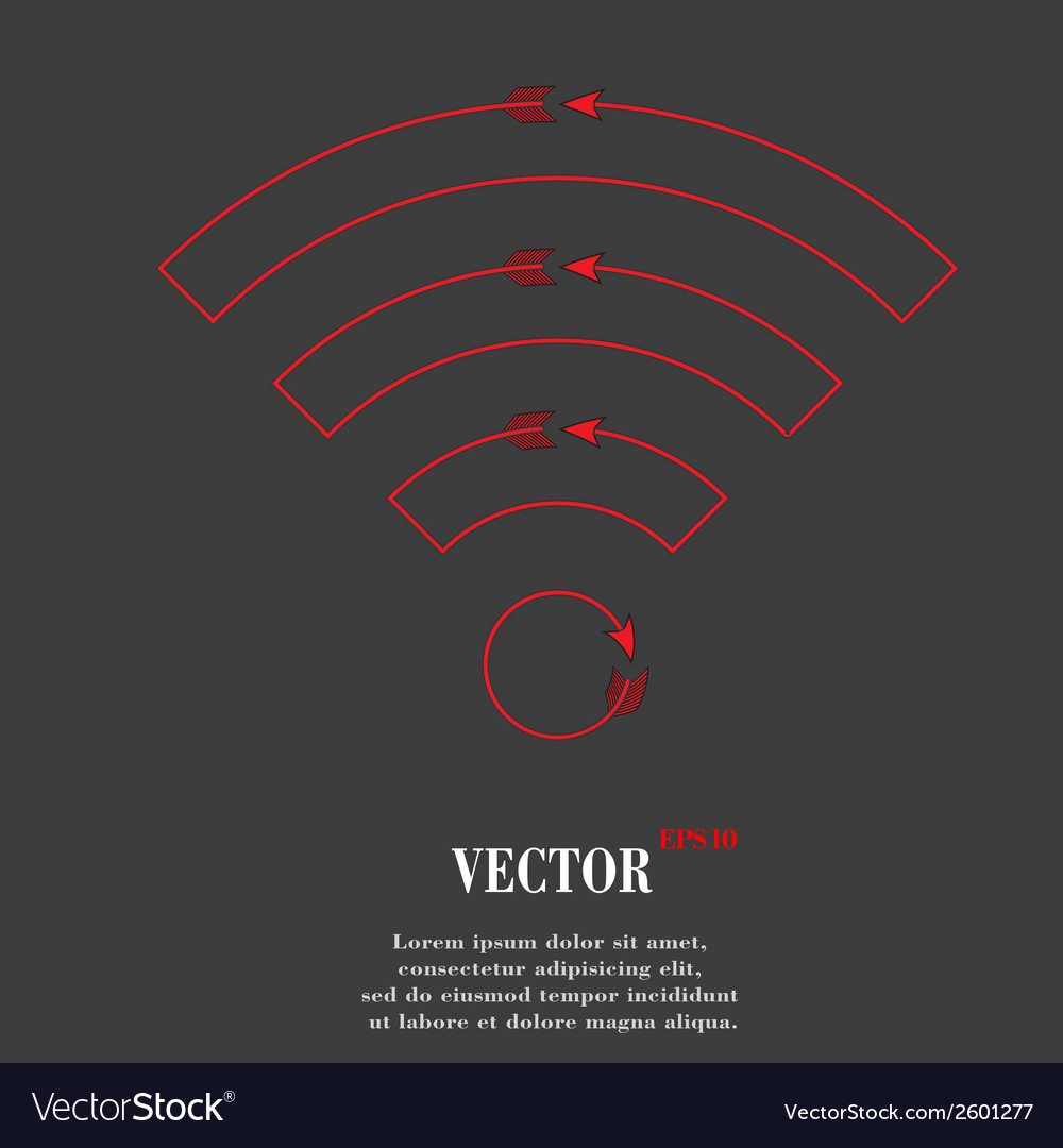 Wi-fi flat modern web button and space for your vector | Price: 1 Credit (USD $1)
