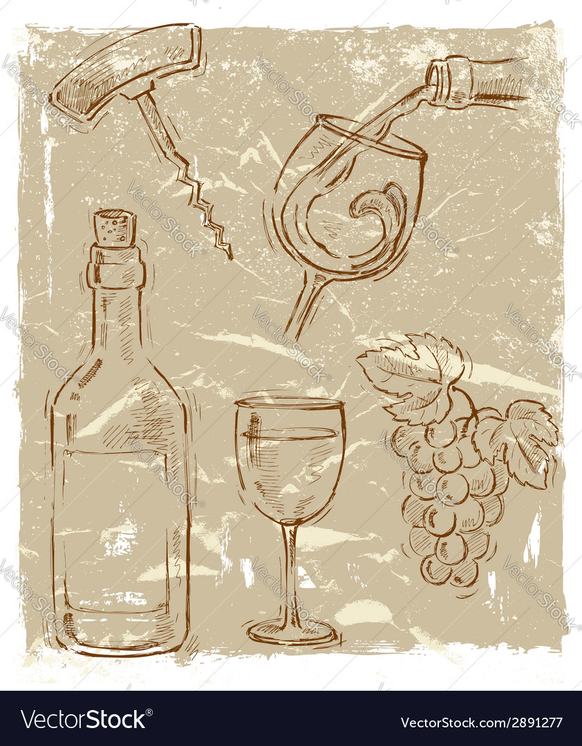 Wine vector | Price: 1 Credit (USD $1)