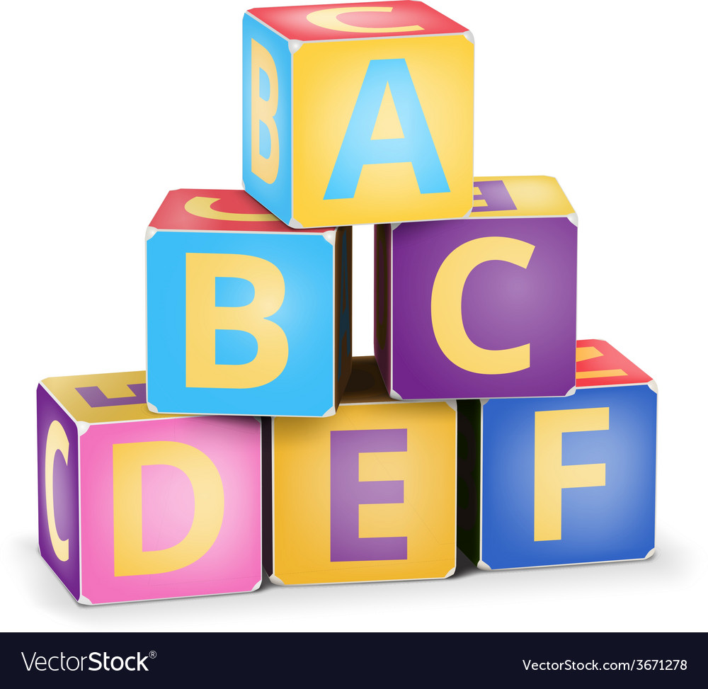 Abc cubes pyramide vector | Price: 1 Credit (USD $1)