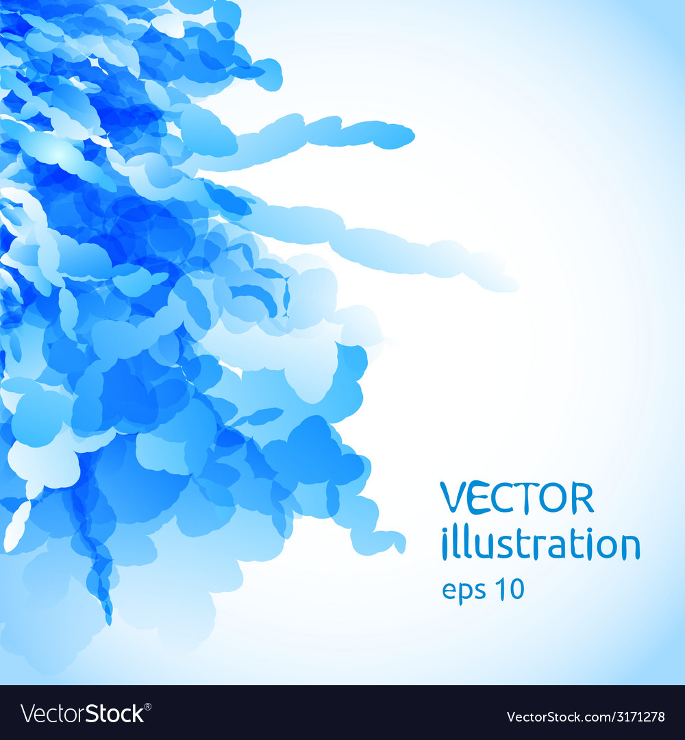 Abstract background of blue blobs vector | Price: 1 Credit (USD $1)