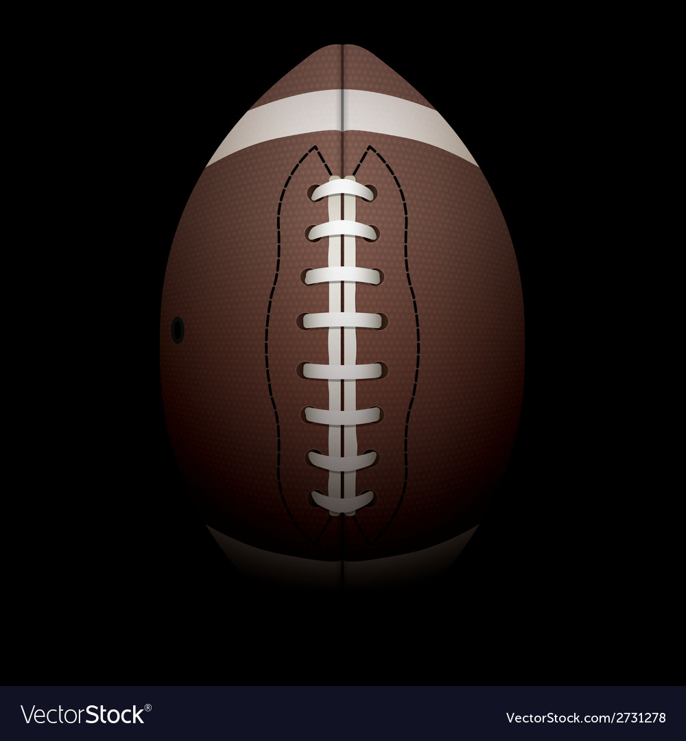 American football on black background vector | Price: 1 Credit (USD $1)