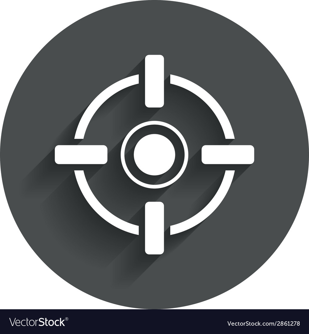 Crosshair sign icon target aim symbol vector | Price: 1 Credit (USD $1)