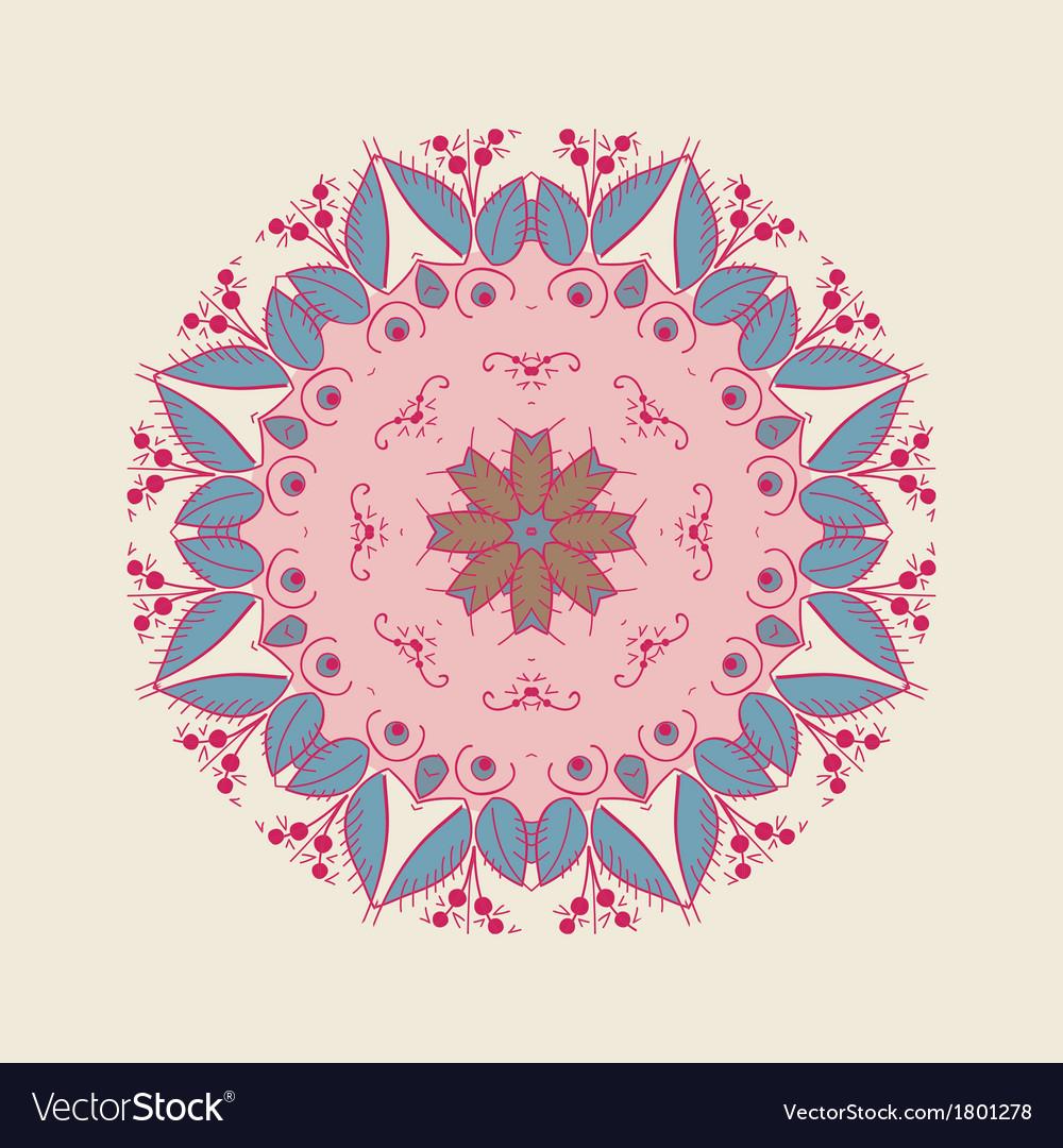 Exotic round ornament vector | Price: 1 Credit (USD $1)