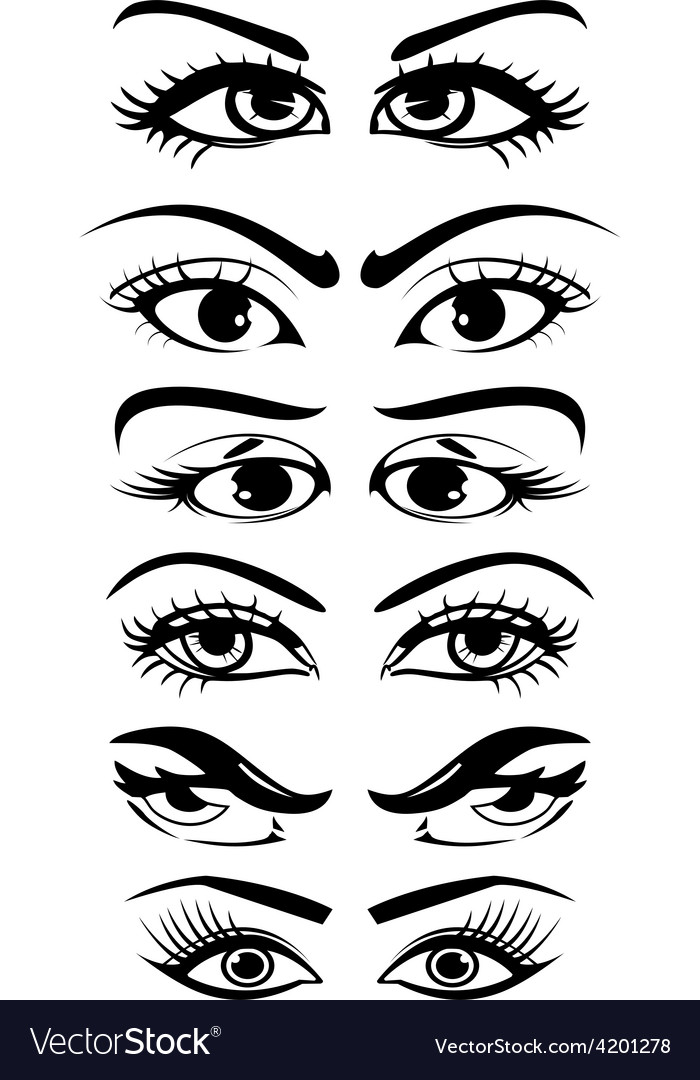 Eyes collection vector | Price: 1 Credit (USD $1)