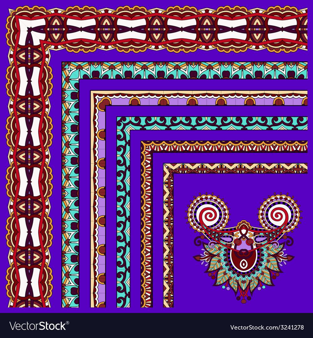 Floral vintage frame design on violet colour vector | Price: 1 Credit (USD $1)