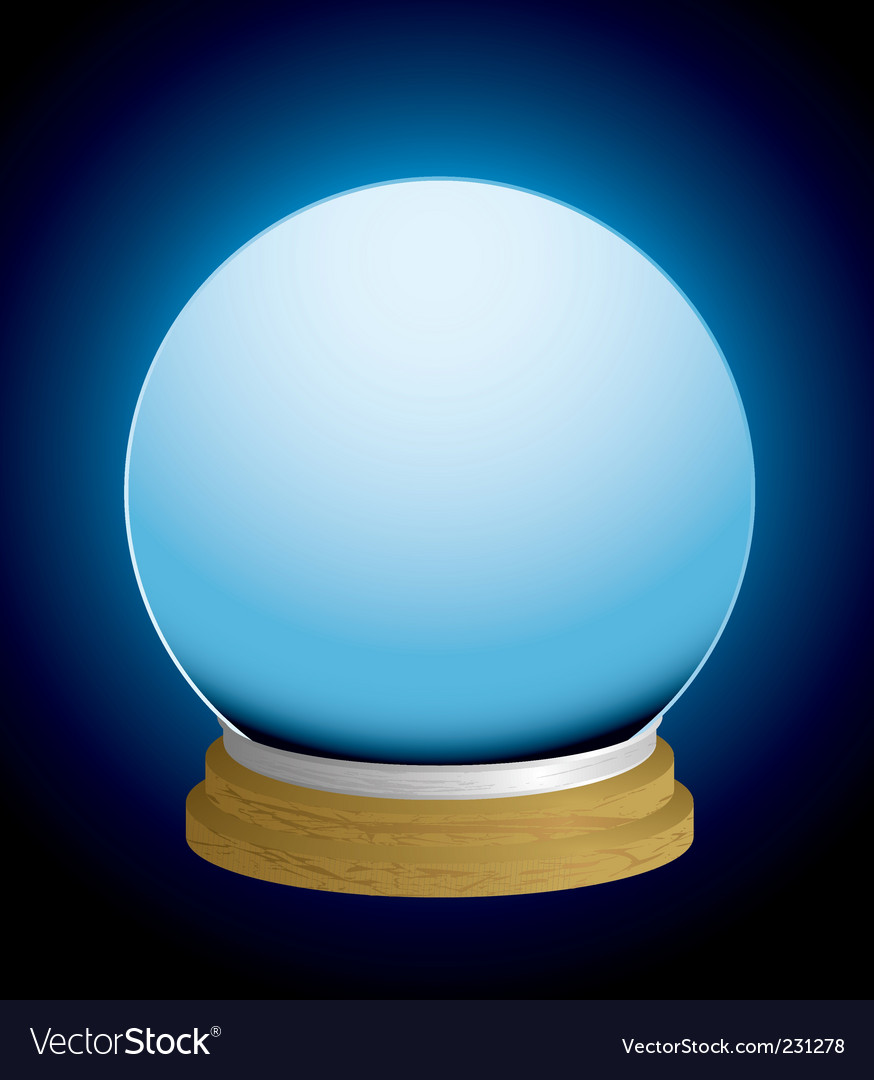 Fortune teller crystal ball vector | Price: 1 Credit (USD $1)
