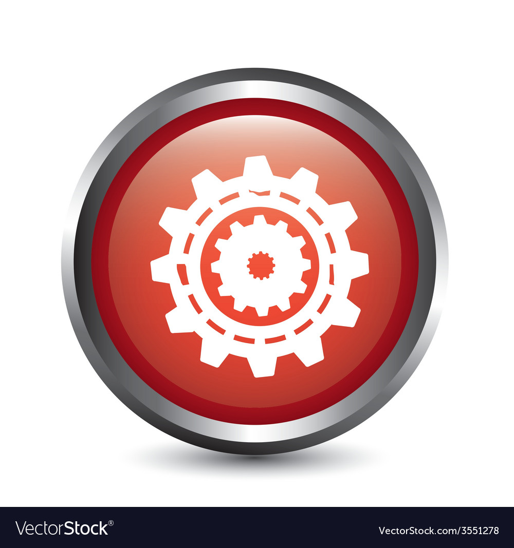 Gear button vector | Price: 1 Credit (USD $1)