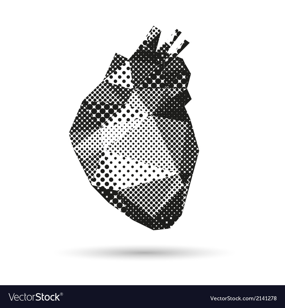 Heart abstract isolated vector | Price: 1 Credit (USD $1)