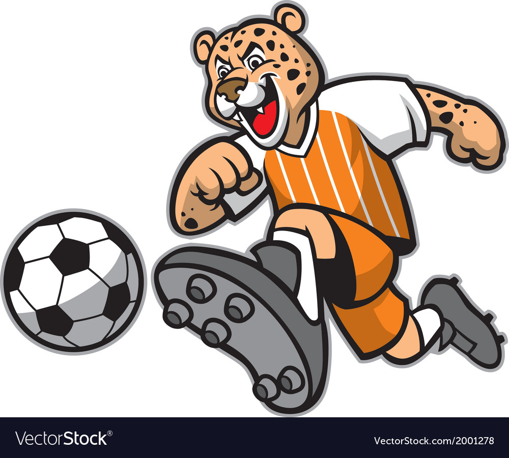 Leopard football mascot vector | Price: 1 Credit (USD $1)