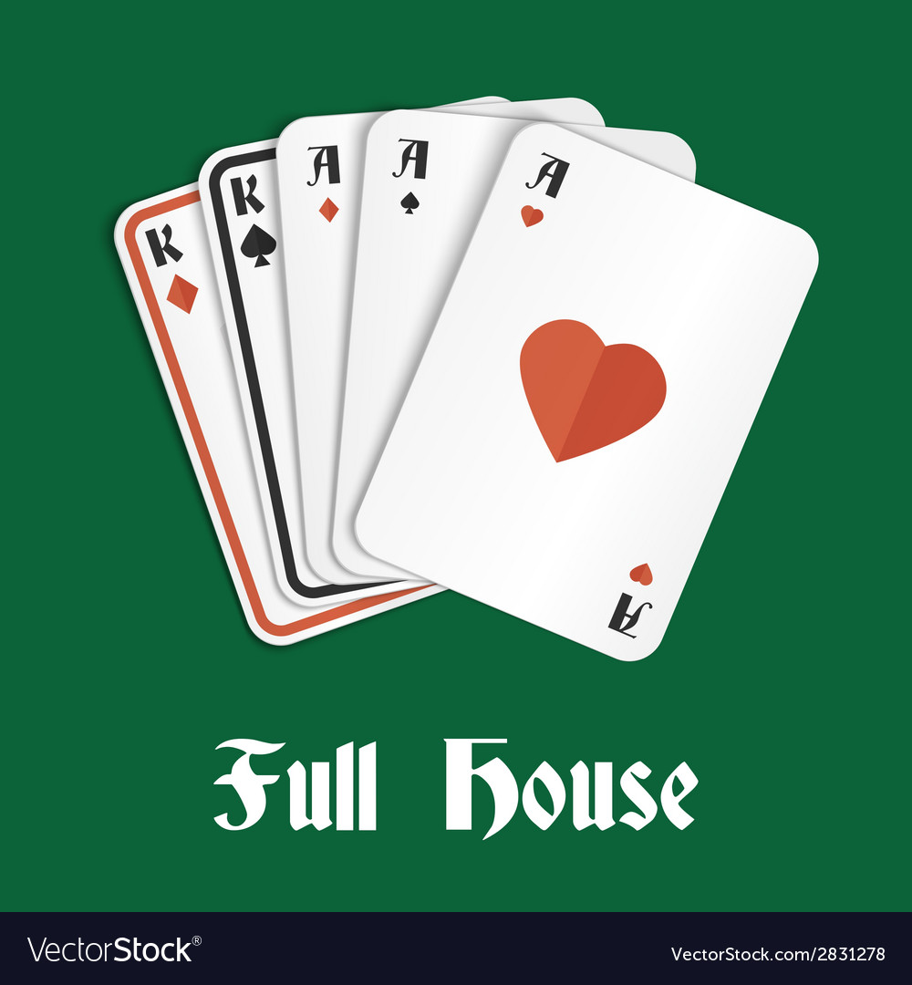 Poker hand full house vector | Price: 1 Credit (USD $1)