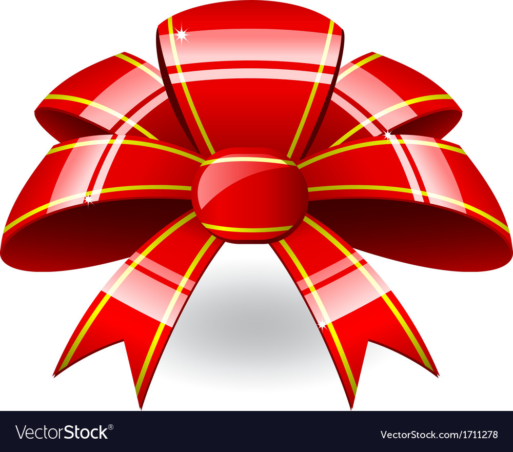 Red ribbon bow vector | Price: 1 Credit (USD $1)