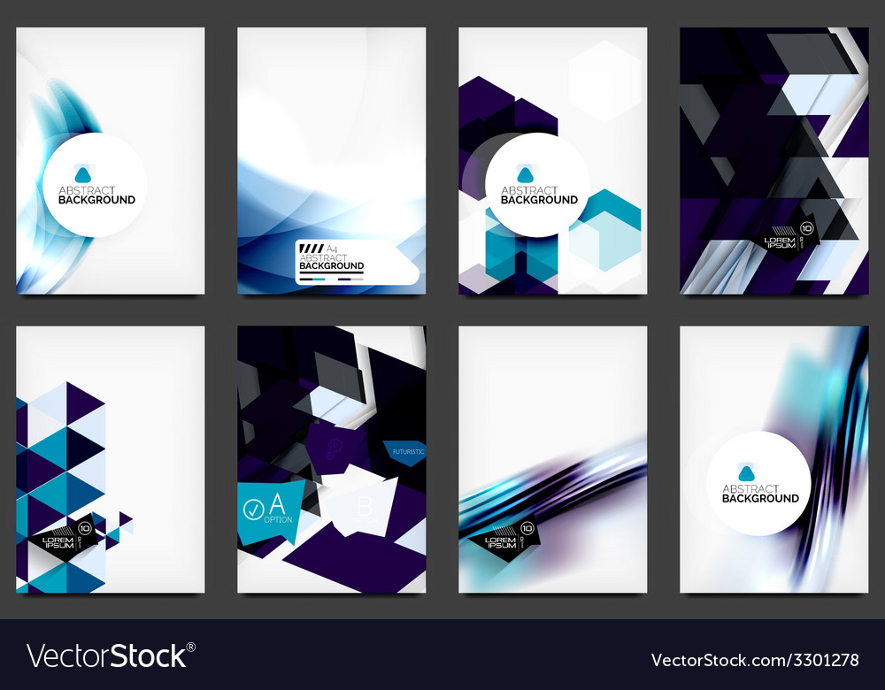 Set of modern flyers brochures vector | Price: 1 Credit (USD $1)
