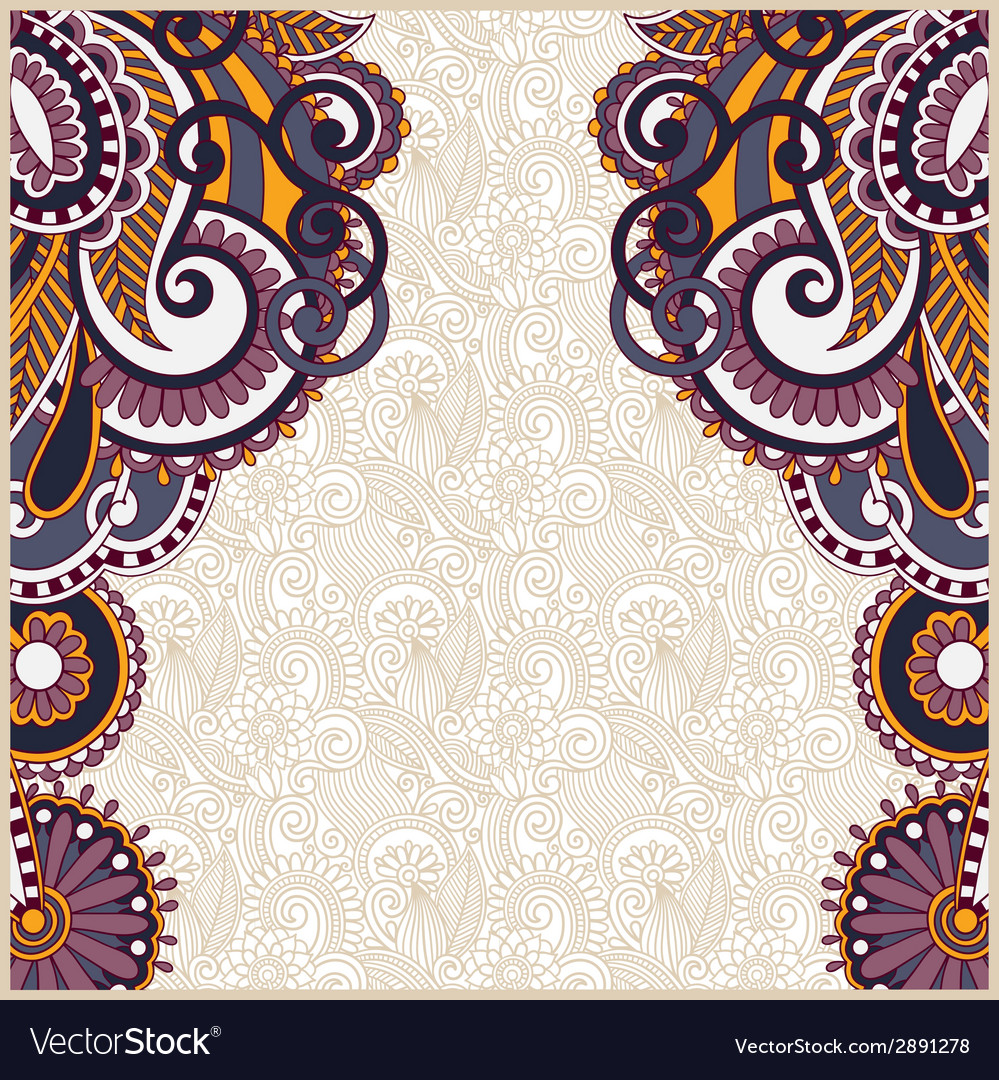 Vintage floral ornamental template on flower vector | Price: 1 Credit (USD $1)