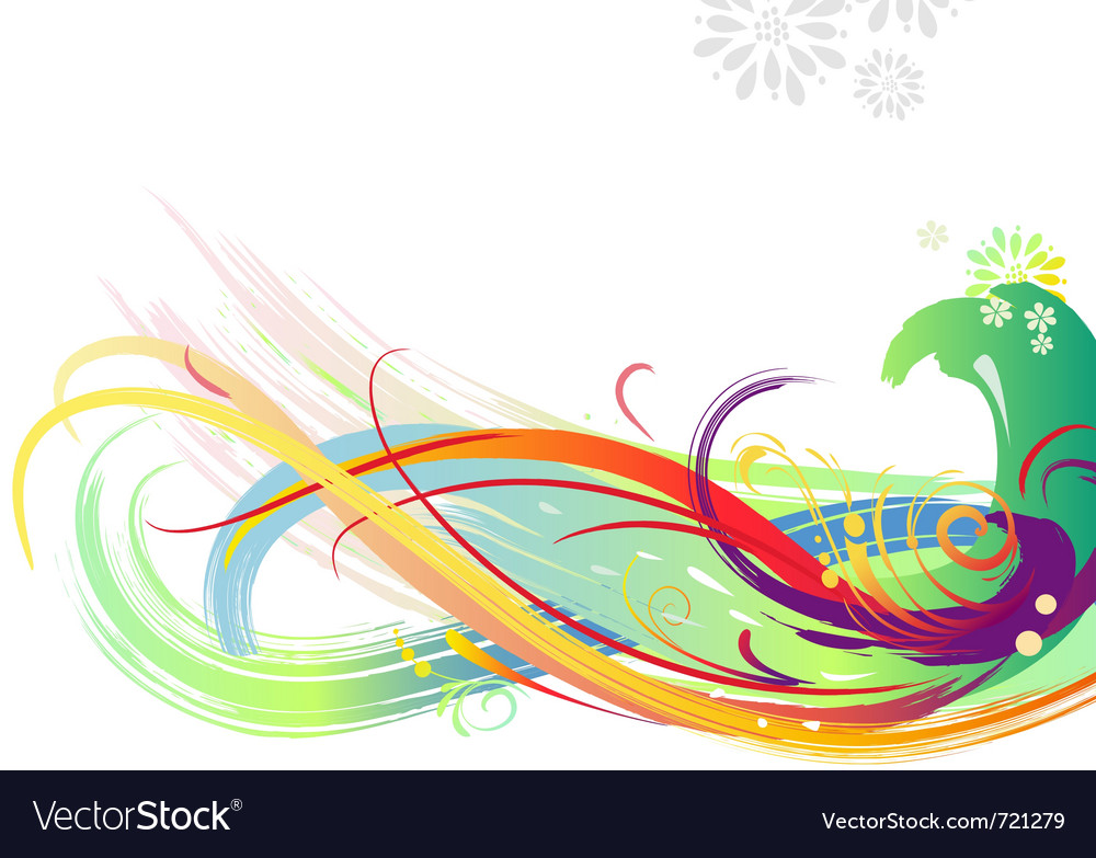 Background of color brush strokes vector | Price: 1 Credit (USD $1)