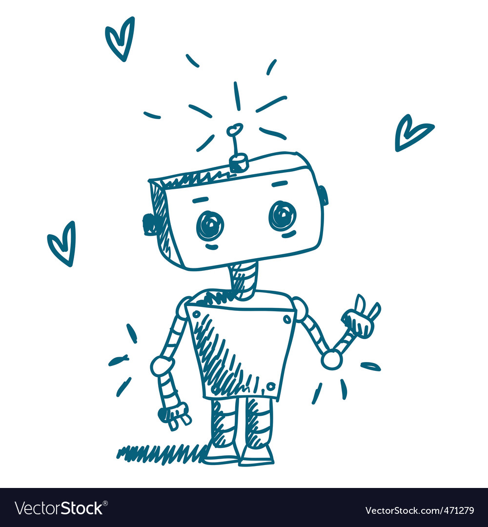Doodle robot vector | Price: 1 Credit (USD $1)