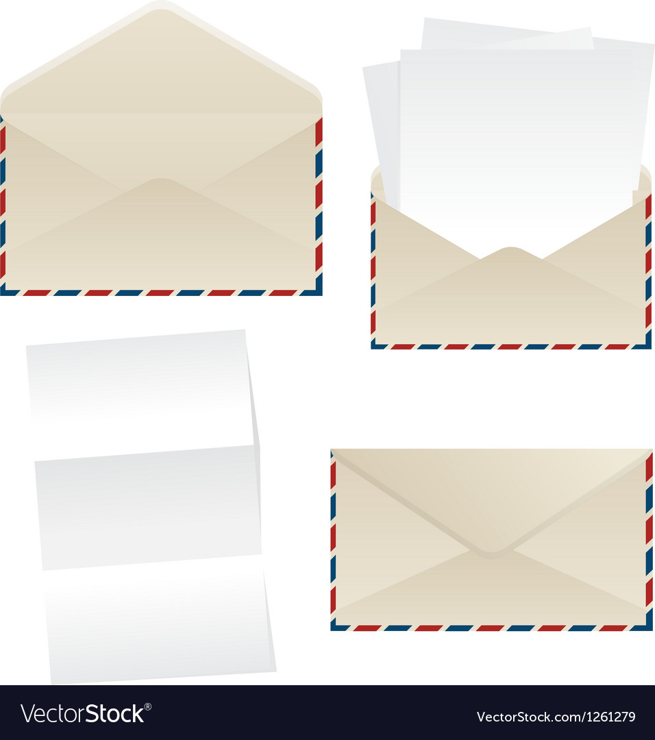 Envelope and paper sheets vector | Price: 1 Credit (USD $1)