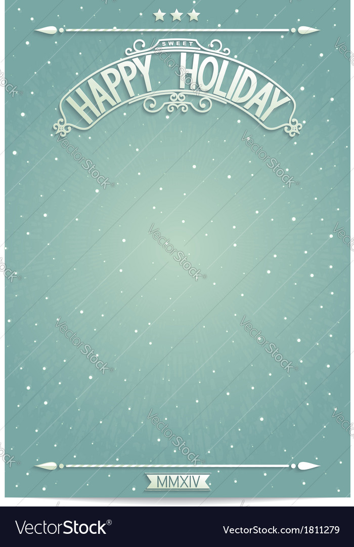 Happy holiday poster template for wishes vector | Price: 1 Credit (USD $1)