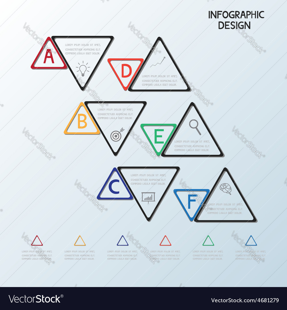 Infographic triangle template vector | Price: 1 Credit (USD $1)