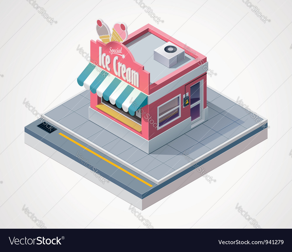 Isometric ice cream store vector | Price: 3 Credit (USD $3)