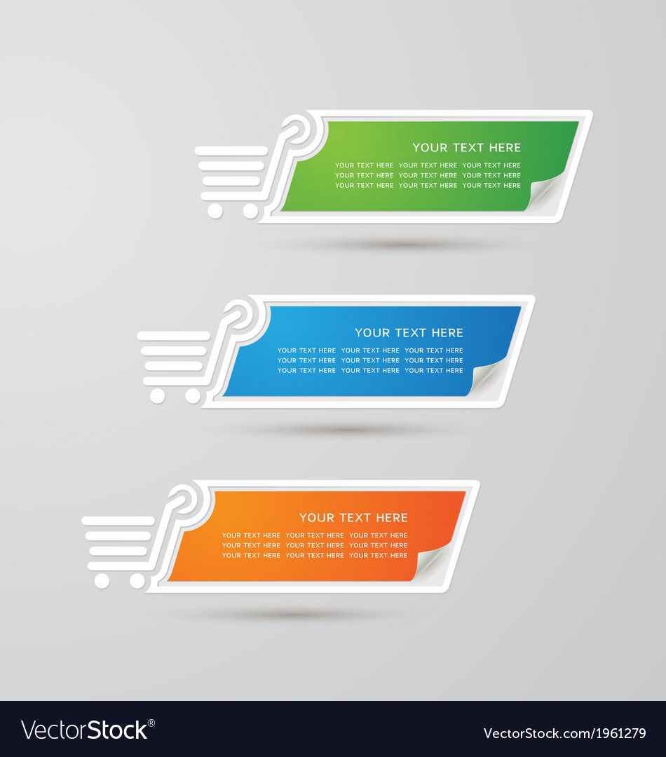 Label colorful paper shopping set vector   Price: 1 Credit (USD $1)