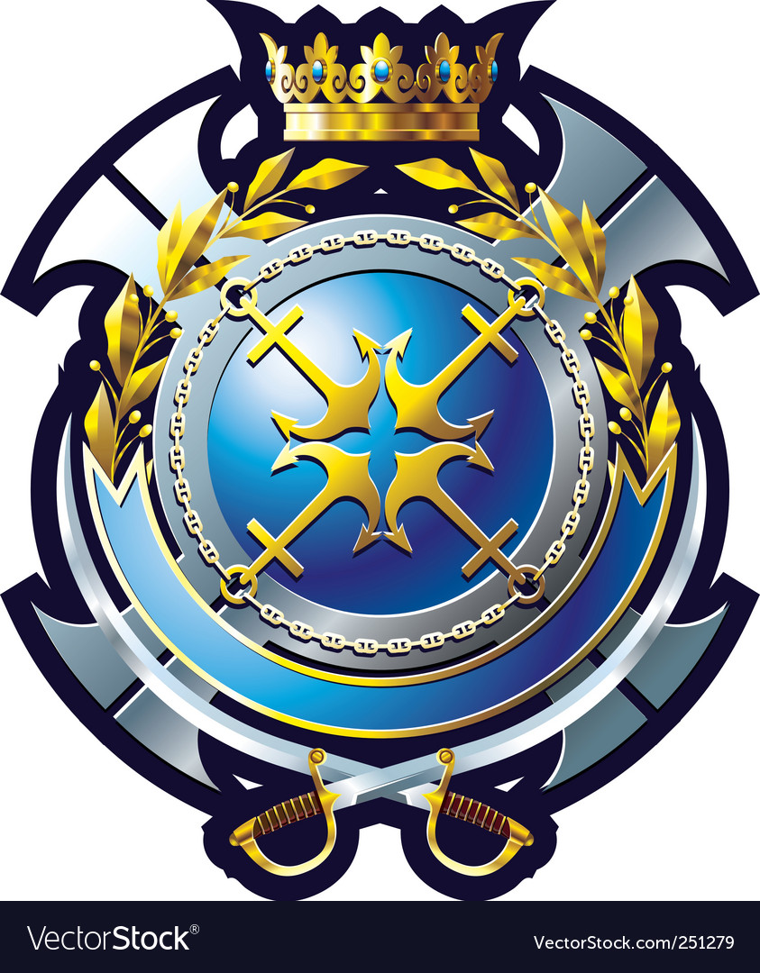 Navy emblem vector | Price: 1 Credit (USD $1)