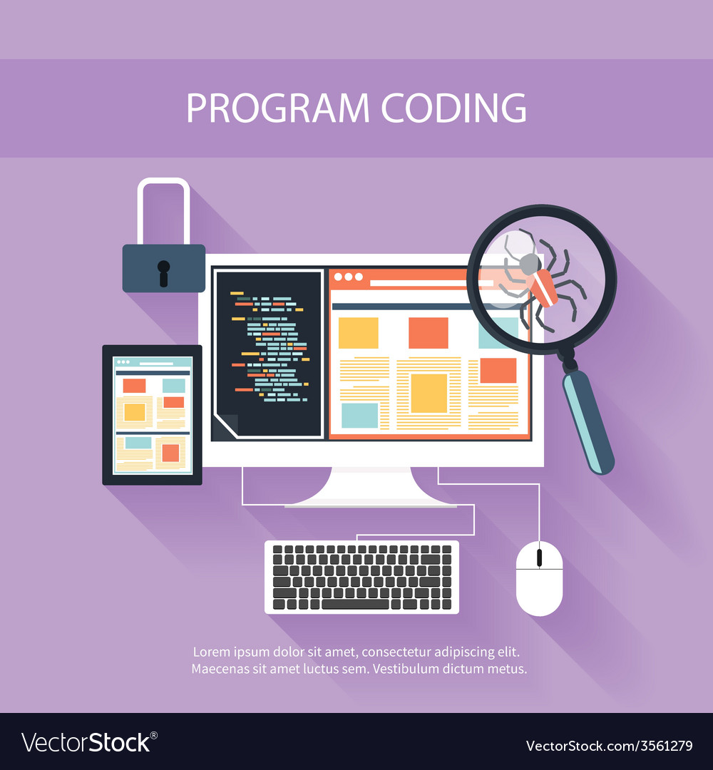 Programming concept vector | Price: 1 Credit (USD $1)