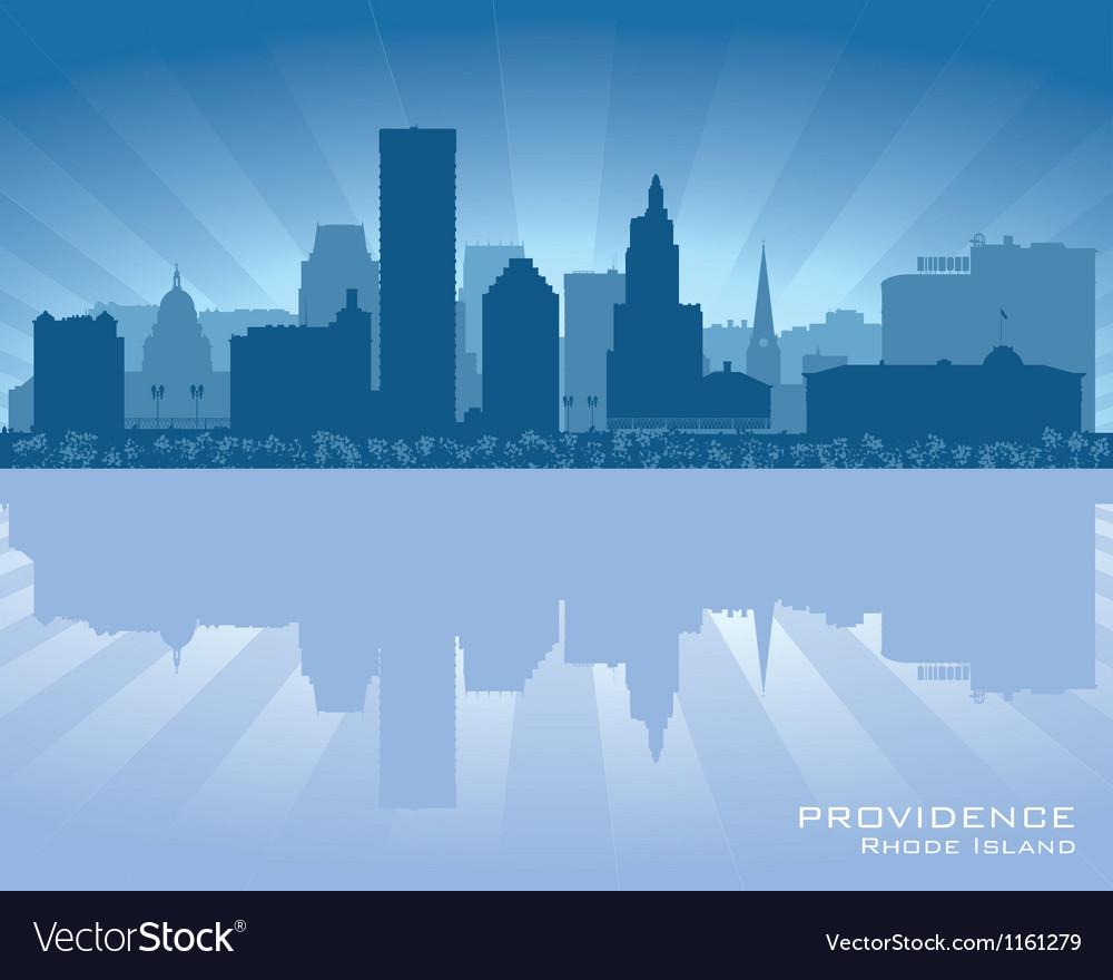 Providence rhode island skyline city silhouette vector | Price: 1 Credit (USD $1)