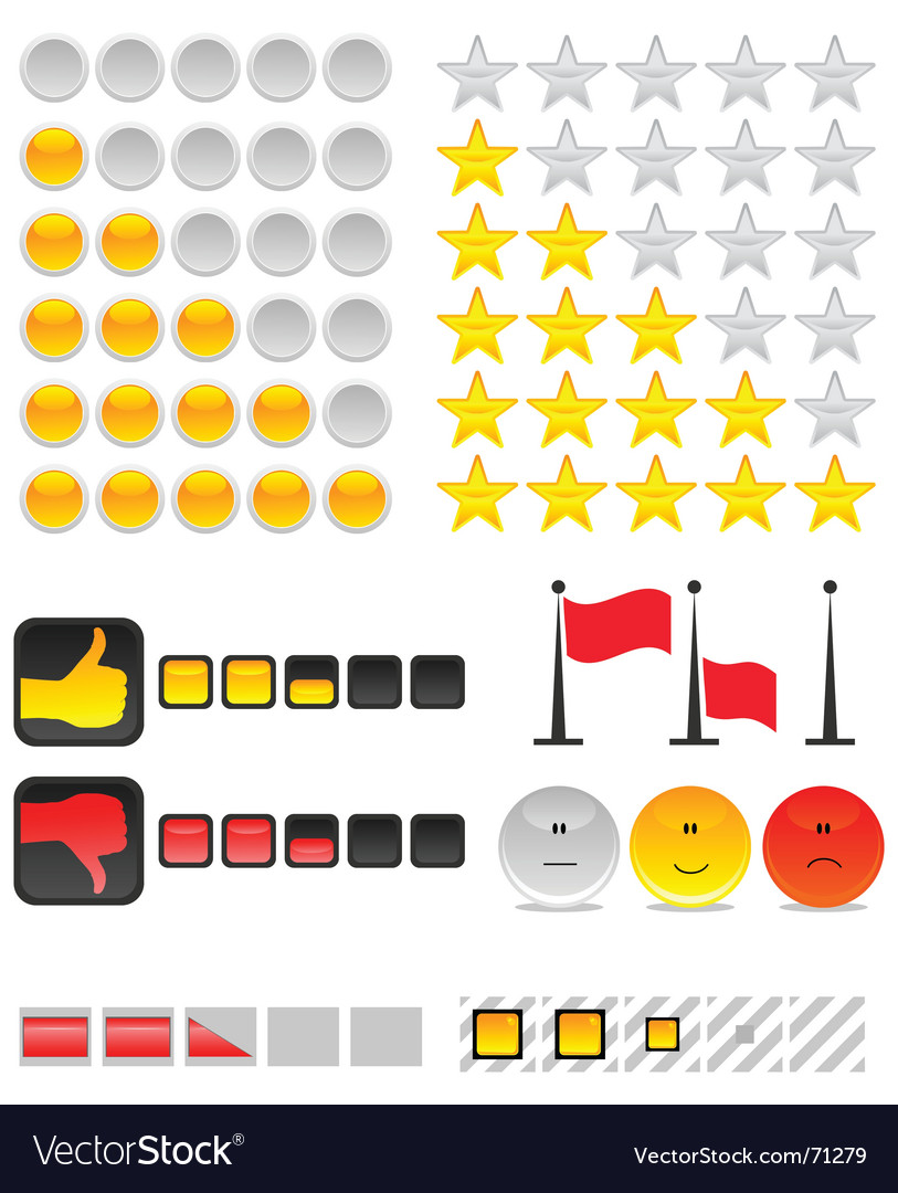 Rating system vector | Price: 1 Credit (USD $1)