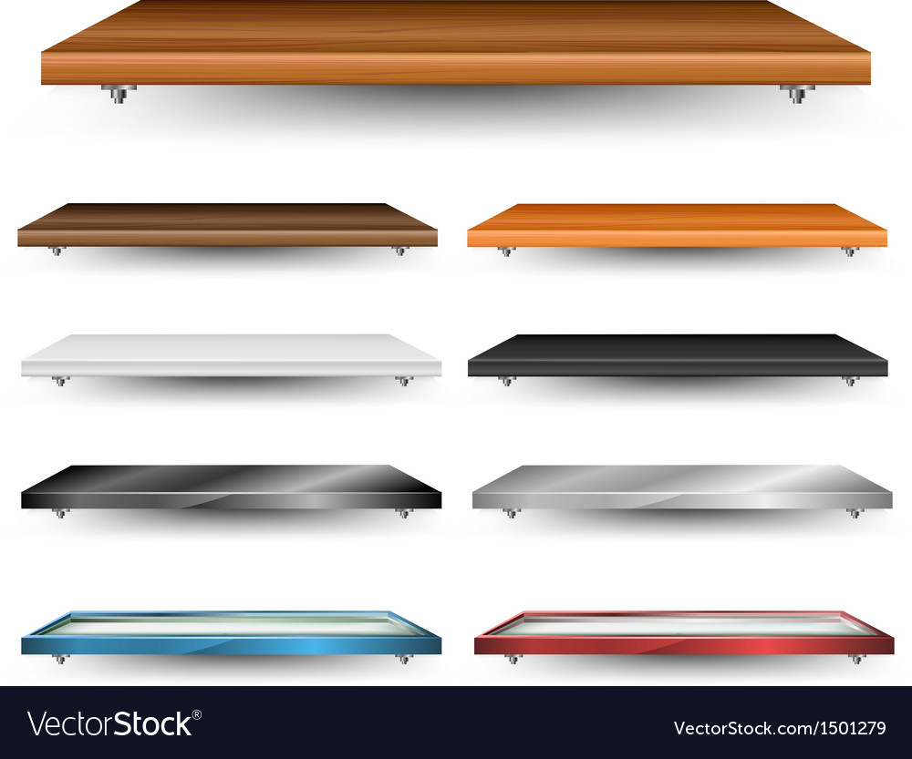 Shelves set vector | Price: 1 Credit (USD $1)