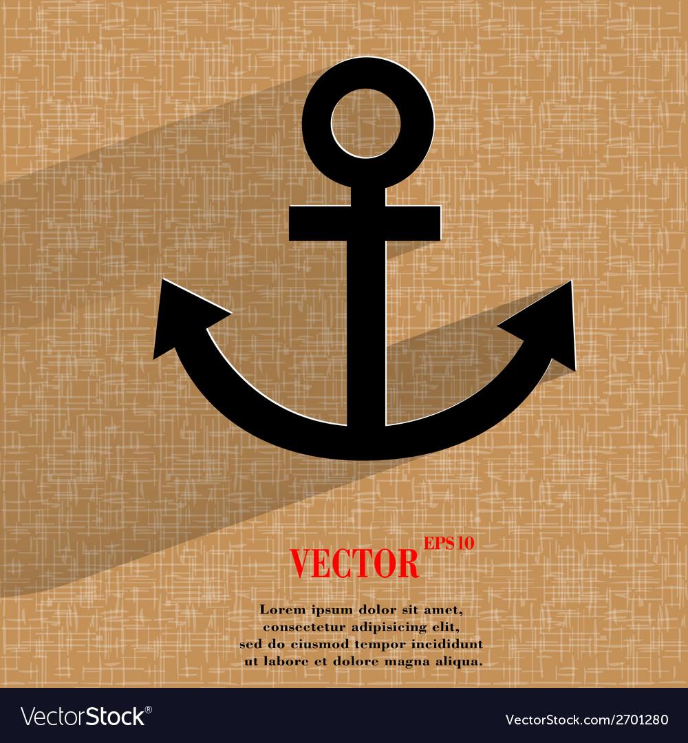 Anchor flat modern web design on a flat geometric vector   Price: 1 Credit (USD $1)