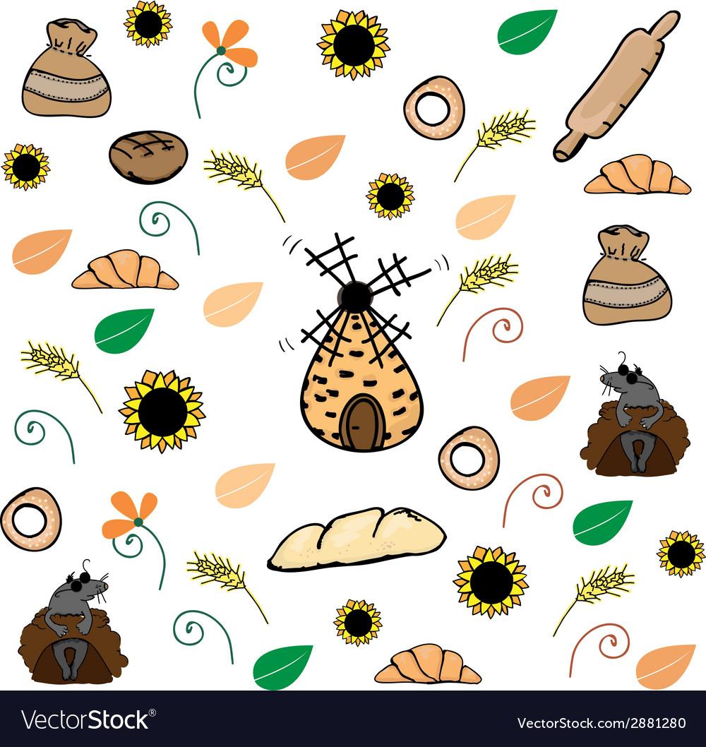 Bread pattern vector | Price: 1 Credit (USD $1)