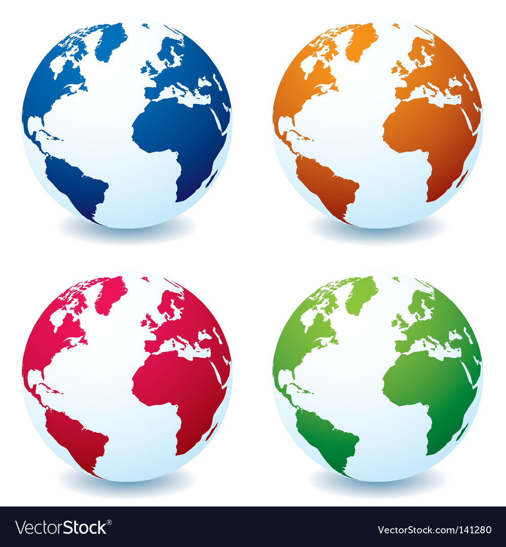 Earth globe variation vector | Price: 1 Credit (USD $1)