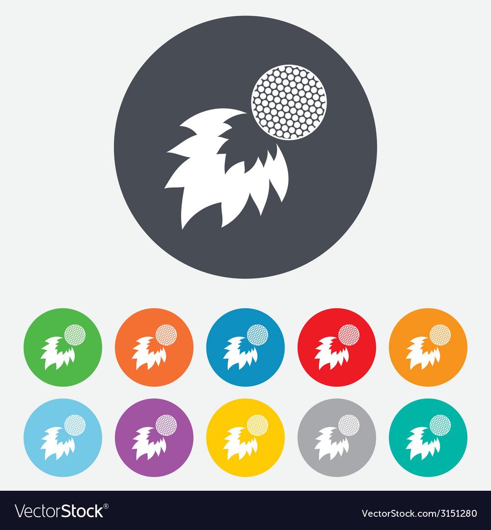 Golf fireball sign icon sport symbol vector | Price: 1 Credit (USD $1)