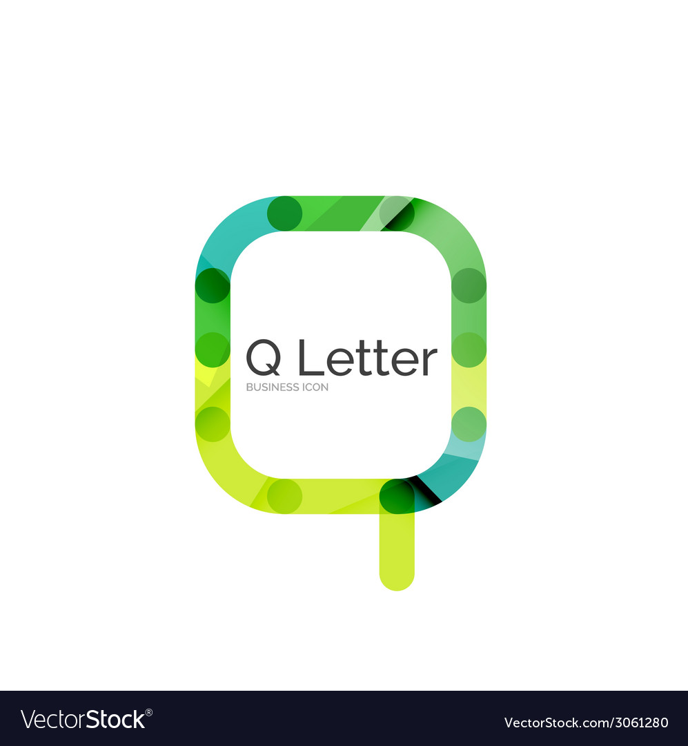 Minimal q font or letter logo design vector | Price: 1 Credit (USD $1)