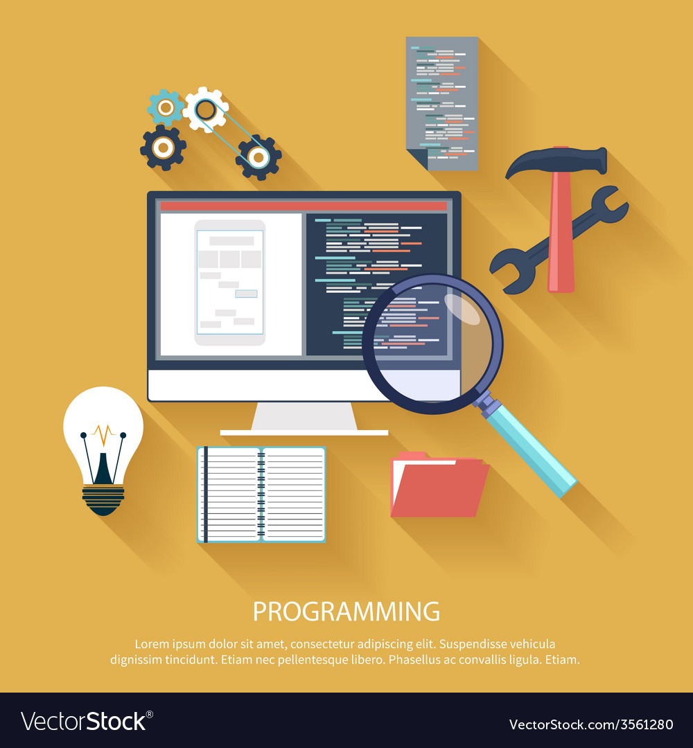 Programming concept vector | Price: 1 Credit (USD $1)