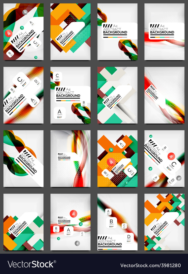 Set of flyer templates business web layouts vector | Price: 1 Credit (USD $1)