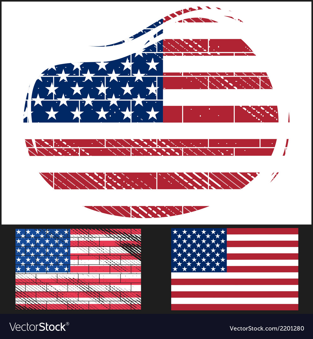 Shabby flag of usa vector | Price: 3 Credit (USD $3)