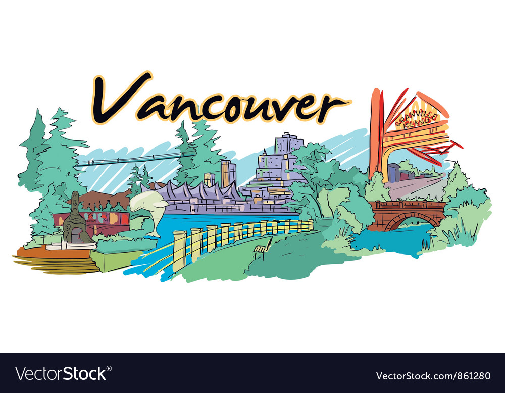 Vancouver doodles vector | Price: 1 Credit (USD $1)