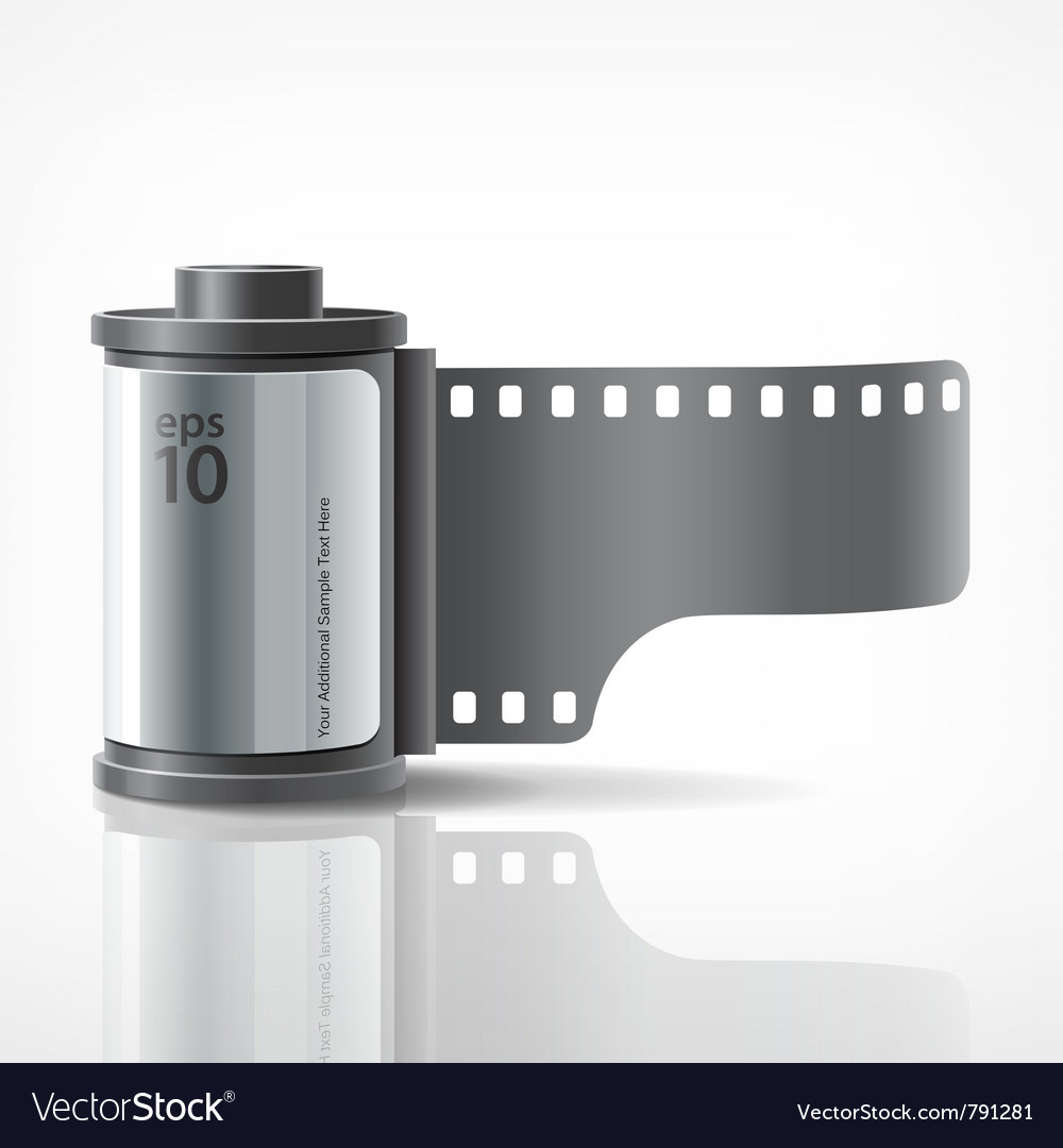 Camera film roll silver vector | Price: 3 Credit (USD $3)